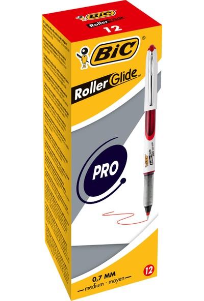 Bic Roller Glide Pro 0.7 Kırmızı Roller Kalem 12'Li Kutu
