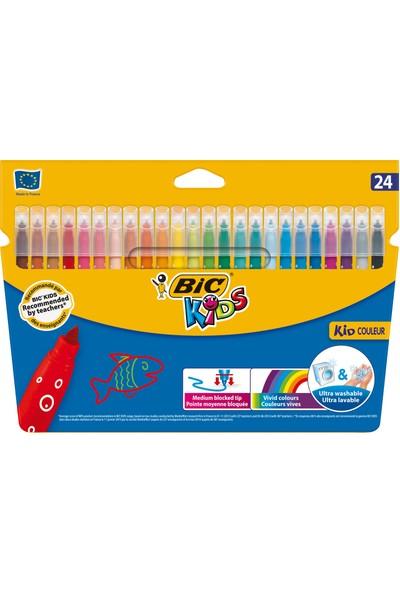 Bic Kids Couleur (Ultra Yıkanabilir) Keçeli Boya Kalemi 24 Renk