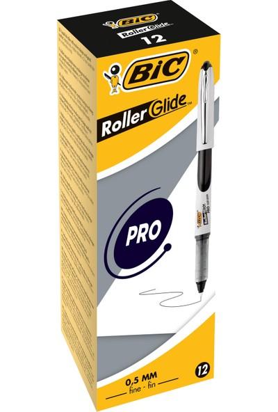 Bic Roller Glide Pro 0,5 Roller Kalem Siyah 12'Li Kutu