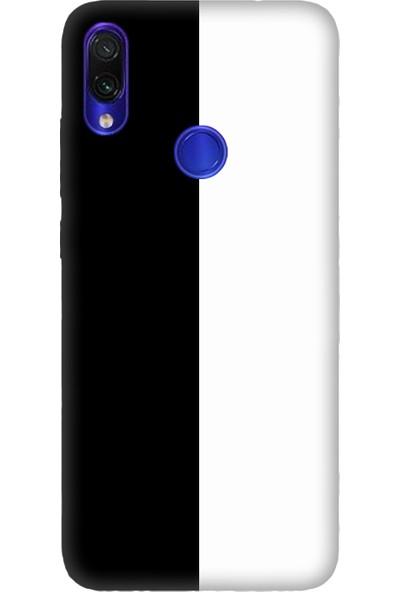 Cekuonline Xiaomi Redmi Note 7 Kılıf Desenli Esnek Silikon Telefon Kabı Kapak - Siyah Beyaz Feda