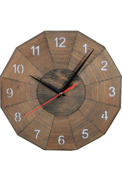 Bahattedarik Komple Ahşap Duvar Saati Çap 27 cm