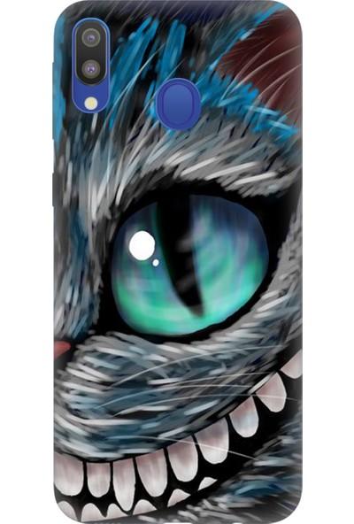 Cekuonline Samsung Galaxy M20 Kılıf Desenli Esnek Silikon Telefon Kabı Kapak - Arsız Kedi