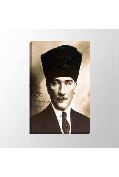 Piri Sanat Atatürk Kalpaklı Kanvas Tablo