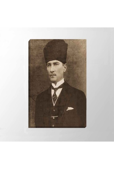 Piri Sanat Atatürk Takım Elbiseli Mendilli Kanvas Tablo