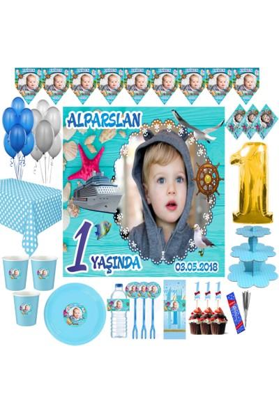 Magnetparti̇ Korsan Temalı Doğum Günü Parti Seti 1 Yaş Süslemeleri Deniz Temalı Parti Set