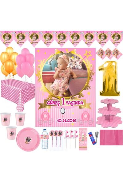 Magnetparti̇ Taçlı Kız Çocuk Parti Süsleme Seti Kız Bebek Resimli Set