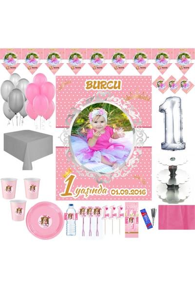 Magnetparti̇ Gümüş Doğum Günü Parti Seti Resimli Fotograflı Parti Seti 16 Kişilik Set