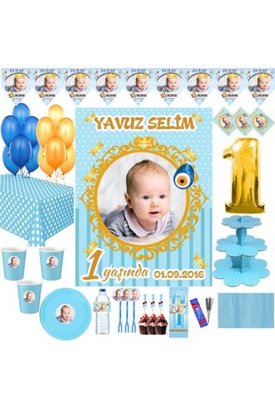Magnetparti̇ Prens Yaş Günü Konsepti Erkek Çocuk Parti Setleri 16 Kişilik Set