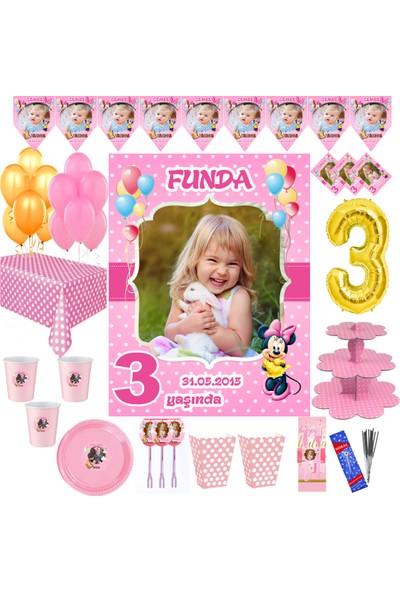 Magnetparti̇ Kız Çocuk 3 Yaş Parti Süsleme Seti 3 Yaş Günü Parti Konsepti