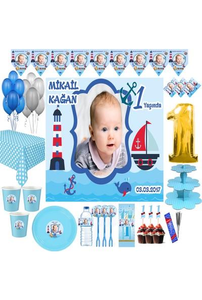 Magnetparti̇ Denizci Parti Seti Denizci Temalı Doğum Günü Parti Süsleri 1 Yaş Süslemeleri