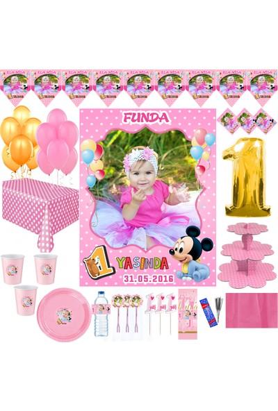 Magnetparti̇ Baby Mouse Kız Çocuk Yaş Günü Parti Seti Doğumgunu Parti Set