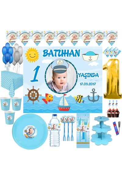 Magnetparti̇ Şirin Kaptan Yaş Günü Parti Süslemeleri 1 Yaş Parti Konsepti 1 Yaş Denizci Konsept