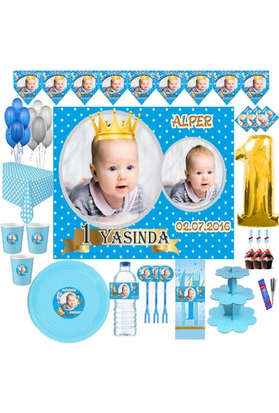 Magnetparti̇ Prens Doğum Günü Parti Seti 16 Kişilik Set