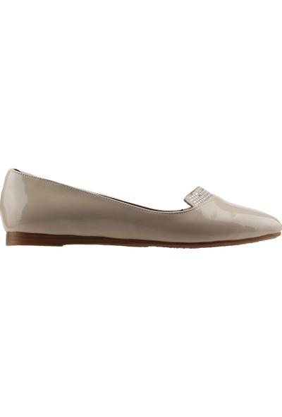 Ayakland 1920-200 Günlük Anatomik Kadın Rugan Babet Ayakkabı Ten