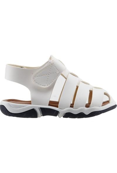Sanbe 501N7401 Anatomic Günlük Erkek Çocuk Deri Sandalet Beyaz