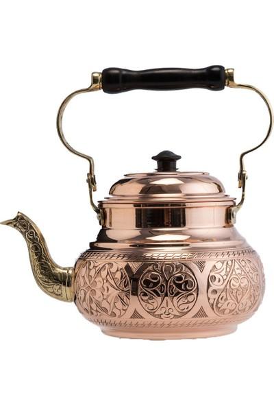 Demmex Bakır Otantik Osmanlı El Yapımı Çaydanlık