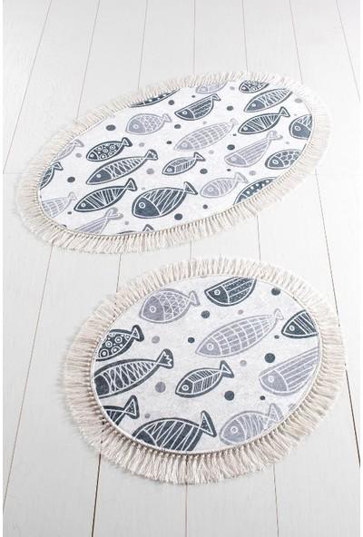 Ewans Oval Banyo Klozet Takımı - Balık Siyah