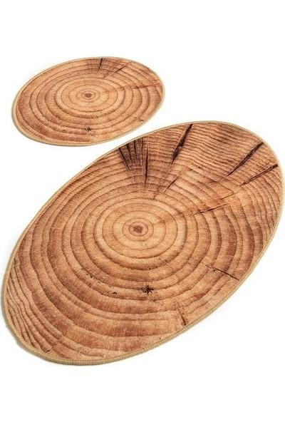 Ewans Oval Banyo Klozet Takımı - Ağaç