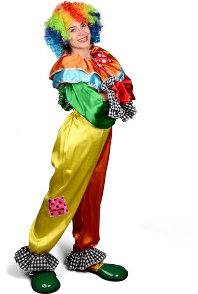 Annee Bakk Askılı Alt Üst Palyaço Kostüm
