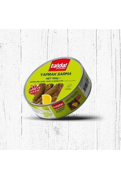 Tada Yemeye Hazır Vegan Yaprak Sarma - 190 gr