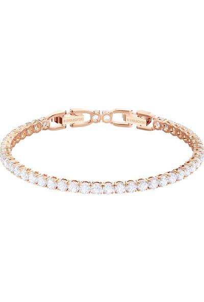 Swarovski Bilezik Tennis:Bracelet Rnd Dlx Czwh/Ros M 5464948