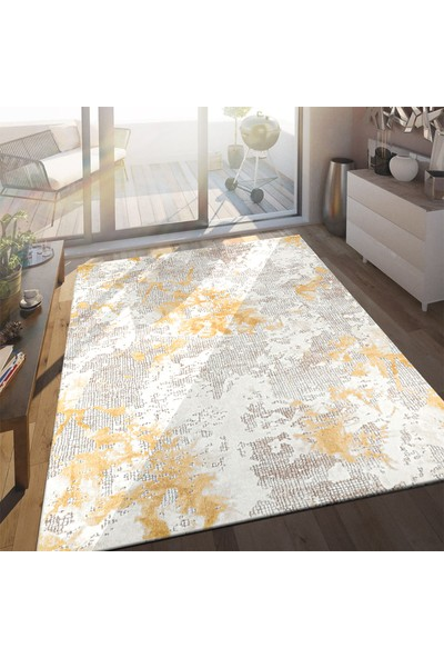 Bahariye Craft LM 8603 Bej/Sarı 150 x 230 cm Modern Halı