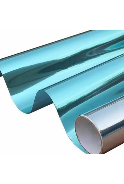 Temiz Auto Aynalı Görünüm Mavi Cam Filmi Çizilmez 75 cm x 300 cm
