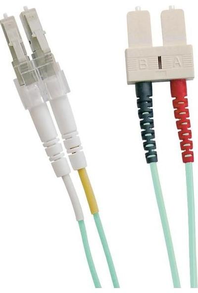 Excel 200-061 Enbeam OM3 Fibre Optic Patch Lead LC-SC Multimode 50/125 Duplex LS0H Aqua 20 m