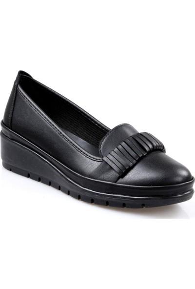 Badis Ortapedik Kadın Günlük Siyah Ayakkabı