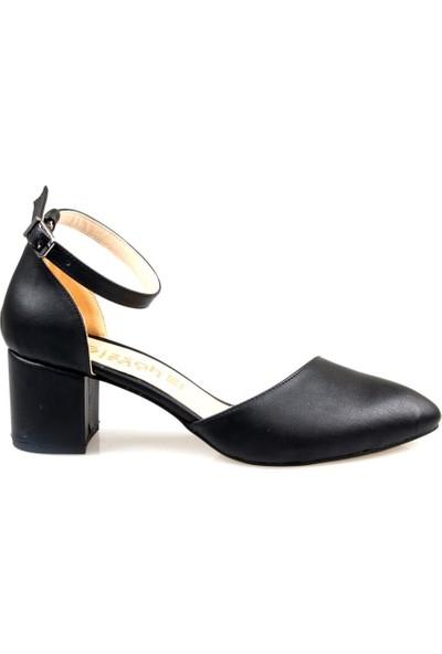 Gizsah Kadın Fantezi Kısa Topuklu Yazlık Ayakkabı