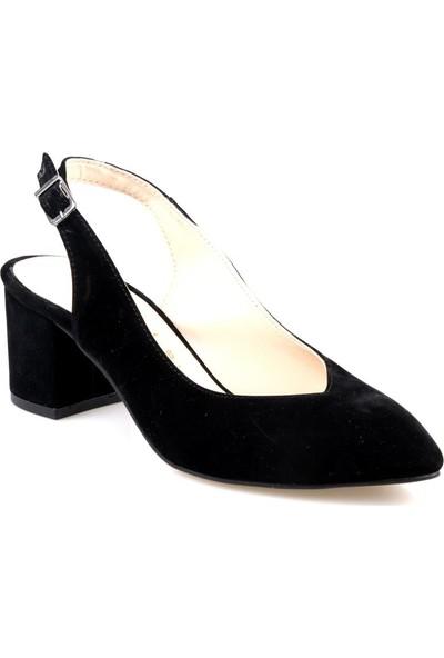 Gizsah Kadın Siyah Topuklu Ayakkabı