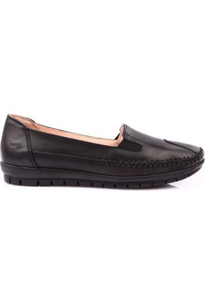 Dgn 01 Kadın Saraçlı Anatomic System Footwear Ayakkabı Siyah