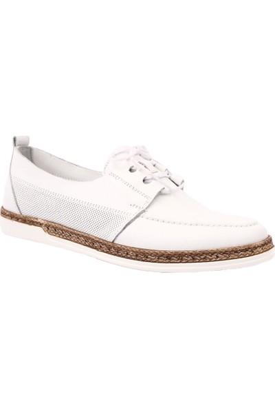 Dgn 118E Kadın Spor Bağlı Soft Oxford Ayakkabı Beyaz