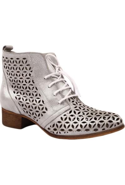 Venüs 1810617Y Kadın Günlük Bootie Ayakkabı Gümüş