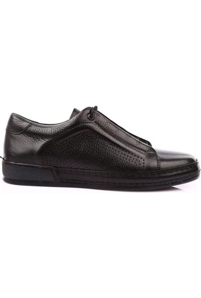 Dgn 1885 Erkek Spor Bağcıklı Sneakers Ayakkabı Siyah
