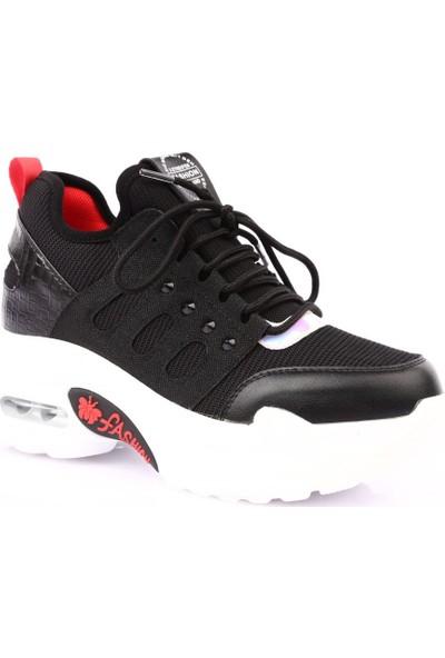 Guja 19Y317-2 Kadın Mega Kalın Taban Sneakers Spor Ayakkabı Siyah