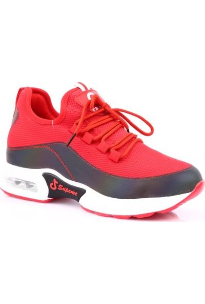 Guja 19Y318-1 Kadın Air Kalın Taban Çapraz Bağlı Sneakers Spor Ayakkabı Kırmızı