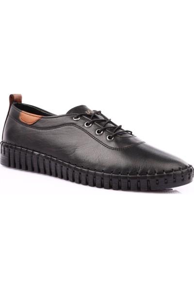 Espy 204 Kadın Spor Lastik Bağlı Saraçlı Ayakkabı Siyah