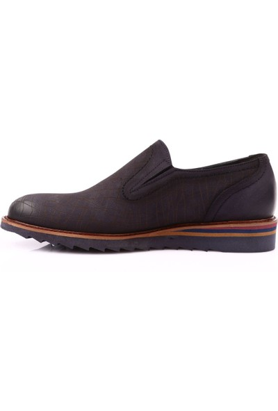 Dgn 5005-2 Erkek Eva Taban Baskılı Bağcıksız Günlük Ayakkabı Lacivert