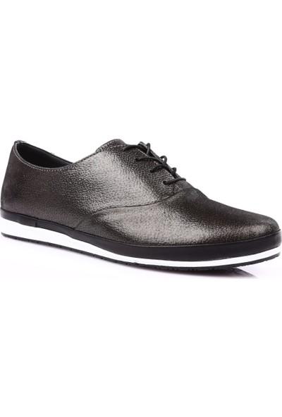 Dgn 6005 Kadın Bağcıklı Casual Ayakkabı Çelik
