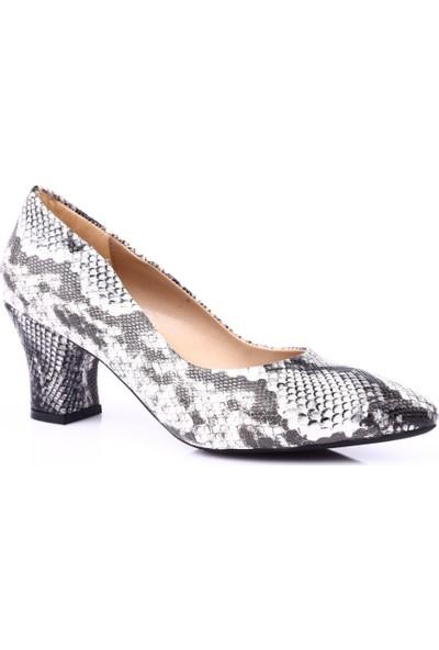 Dgn 603 Kadın Sivri Burun Topuklu Ayakkabı Siyah