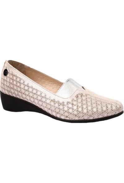 Mammamia D19Ya-4220 Kadın Günlük Ayakkabı Dore Simli Flotur