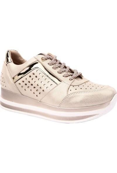 Mammamia D19Ya-505 Kadın Günlük Ayakkabı Bej