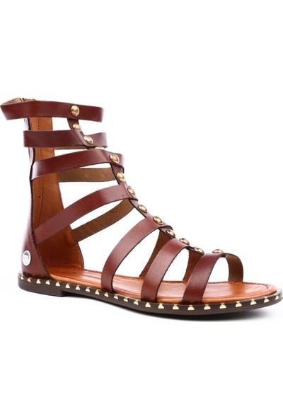 Mammamia D19Ys-1185 Kadın Sandalet Ayakkabı Kahve