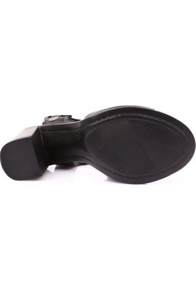 Mammamia D19Ys-1305 Kadın Sandalet Ayakkabı Siyah