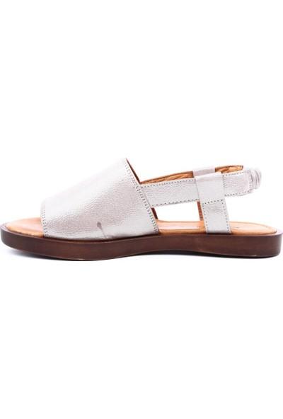 Hammer Jack Hj-542-597-Z Kadın Sandalet Gümüş