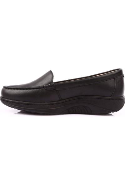 Dgn P13 Kadın Anatomıc Taban Footwear Comfort Ayakkabı Siyah