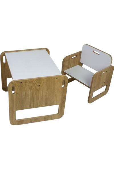 Minera 2-4 Yaş Kumru Çocuk Oyun Masası ve Sandalyesi