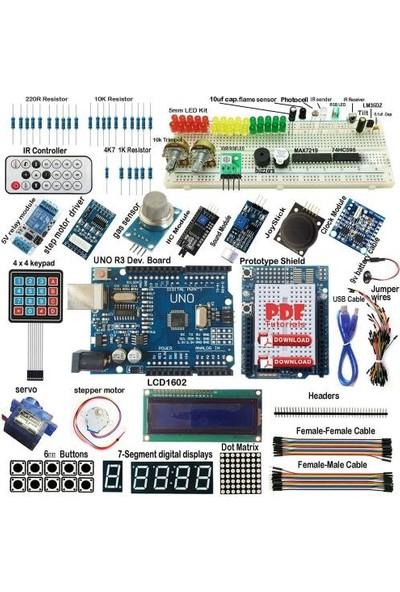 Arduino Uno R3 Ultimate Başlangıç Seti Kutulu 190 Parça 395 Adet Set