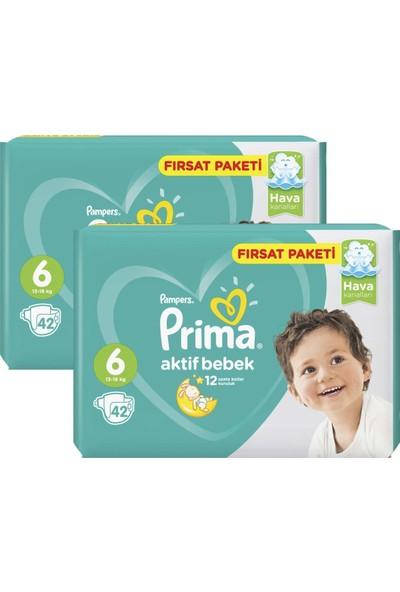 Prima Bebek Bezi Aktif Bebek 6 Beden Ekstra Large Fırsat Paketi 84 Adet